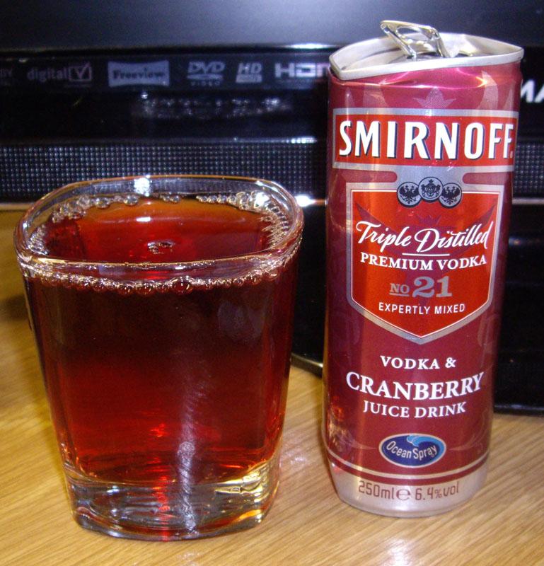 smirnoff vodka cranberry juice drink