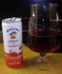 Who needs red wine when you have cranberry juice?