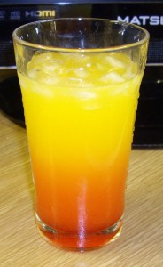 Kind of like a Tequila Sunrise without the tequila
